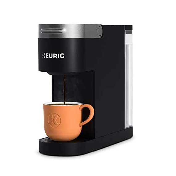 "Keurig k-slim single serve coffee maker with coffee lovers' variety pack, 40 count k-cup pods 1 fits anywhere: less than 5"" wide, fits neatly on your countertop. Multiple cup water reservoir: removable 46 oz. Reservoir lets you brew up to 4 cups before refilling. 8oz cup size 3 cup sizes: brew an 8, 10, or 12 oz. Cup at the push of a button."