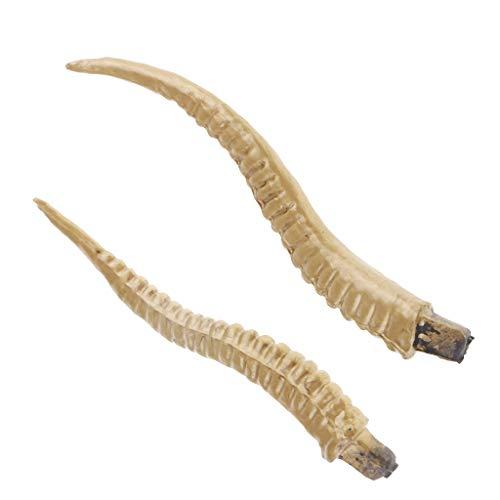 Baoblaze 1 Paar Antilopehorn Haarreif Teufel Fasching Karneval Halloween Kopfbedeckung Kopfschmuck Tierhörner - Gold