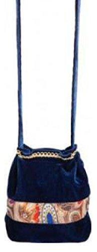 narrenkiste O41174 - Bolso bandolera para mujer, color azul oscuro