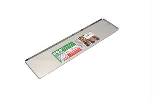 Vassoio bancone bar per esposizione dolci pasticceria in acciaio inox tender (40x20cm)