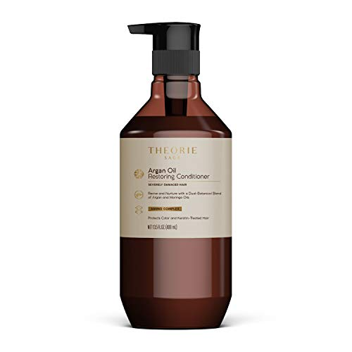 Theorie Argan Oil Ultimate Restoring Conditioner with Argan, Moringa, Grape Seed, and Sage Oil For Normal to Severely Damaged Hair