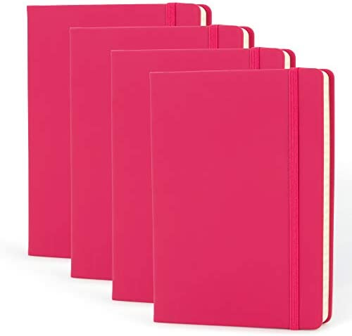 Simply Genius 4 Pack A5 Hardcover Leatherette Journals to Write in for Women Faux Leather Journal product image