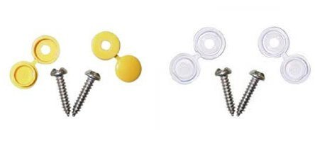 Number Plate Fixing Fixing Screws And Caps 2x Front 2x Rear