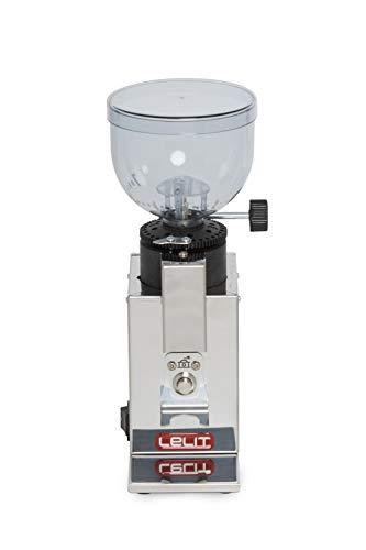 Lelit PL043 MMI Fred PL043MMI Kaffeemühle-Edelstahl-Gehäuse-Mikro-regulierung des Mahlens, Stainless Steel, stahl