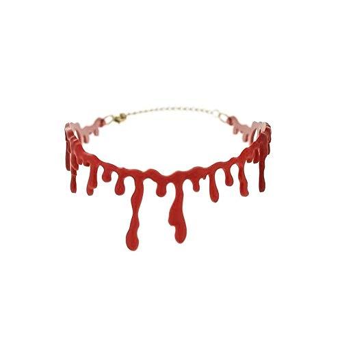 Yisily Accessori Costume Vampire Creativo Il Sangue Che Cola Halloween Party Halloween Girocollo Simulazione Bloodstain Collana