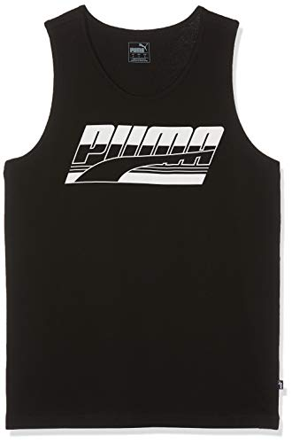 PUMA Herren Rebel Tank Tanktop, Cotton Black, XL
