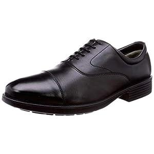 [オールデイウォーク] ビジネスシューズ 革靴 防水 幅広 本革 4E メンズ ADM 0050 ブラック 28.0 cm