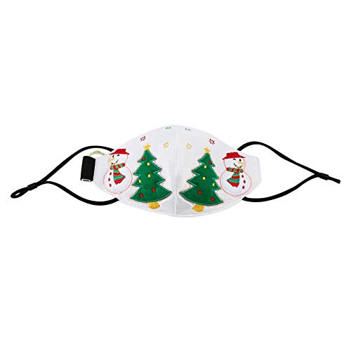 Christmas Adults 𝐅𝐚𝐜𝐞 𝐁𝐚𝐧𝐝𝐚𝐧𝐚𝐬 - Christmas Glowing 𝐌𝐨𝐮𝐭𝐡 𝐂𝐨𝐯𝐞𝐫 Decorative Fiber Light Colorful Loop for Women and Men