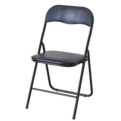 ShJttt-chair or stool Chaise de Formation Pliante portative à la Maison Simple de réunion de Bureau d'ordinateur de Formation avec Le Dossier (43 * 44 * 81cm) (Couleur : Noir)