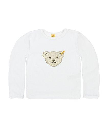 Steiff Collection Steiff Unisex - Baby Sweatshirt Classics Nicky 0002881, Gr. 68, Weiß (bright white)