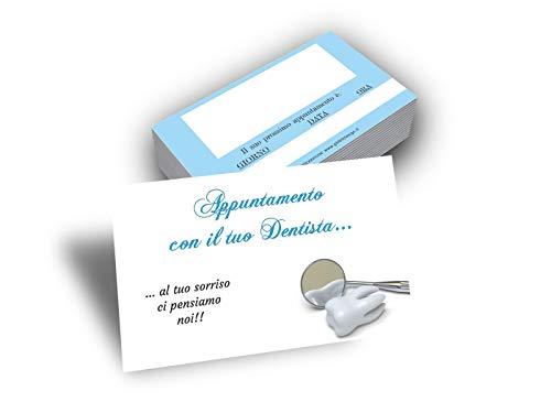 Biglietti per Appuntamenti Dentista (da 50 a 500 pezzi) Promemoria Appuntamento Studio Odontoiatrico. Tessere con Tabella per Fissare gli Appuntamenti Studio Dentistico (500)