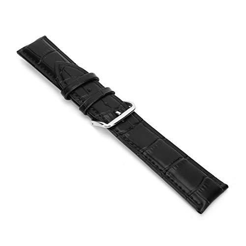 DAUERHAFT Accesorio de Reloj Correa de Reloj Ajustable Accesorio de Repuesto Exquisito(Black)