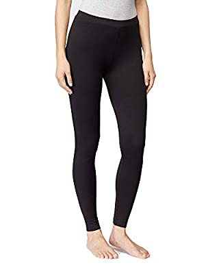 32 DEGREES Womens Cozy Heat Baselayer Comfy Lounge Pajama Legging, Black, Large