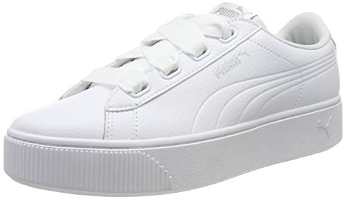 Puma Vikky Stacked Ribbon Core', Sneaker Donna, Nero White White, 40 EU