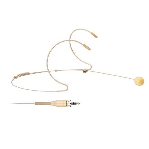 Headset- / Headworn-Mikrofon - 3,5-mm-Mikrofon mit Schraubverschluss für Sennheiser-Funksystem und Taschensender - Beige Dual Earhook Omnidirektionales Headset-Kopfmikrofon