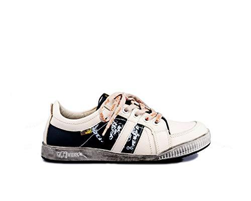 TMA 4119 Sportlicher Herren Halbschuh Sneaker Schnürschuh weiß alle Gr. 41-46 EUR 44