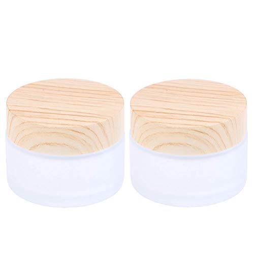 SevenMye Lot de 2 Pots en Verre Mat pour crème, Maquillage, Soin de la Peau, 30 g