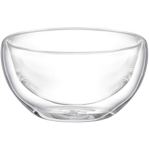 Ambition 96866 Doppelwandige Glas Schüssel Mia 300 ml Thermoschale Glasschale Müslischale Dessertschale durchsichtig rund perfekte Geschenkidee