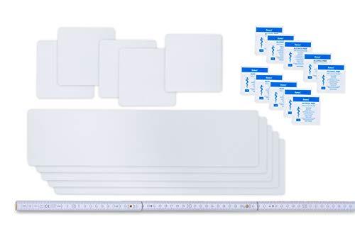 Flickly Easy Patch Comfort - Tapas Autoadhesivas para Reparar Lonas de Tiendas de campaña (10 Unidades, 100 mm)