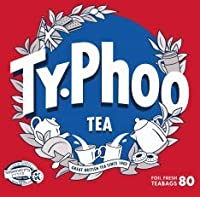 Typhoo Tea: 80 Authentic English Tea bags Individually Wrapped, Black Tea Bags, British Black Tea, British Blend, English Breakfast Tea, Kosher for Passover