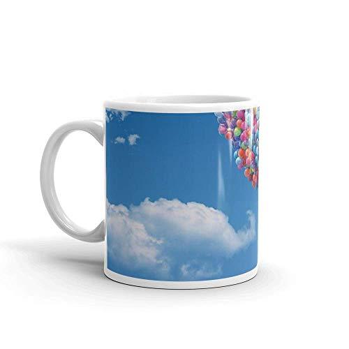 Lsjuee La casa de arriba. Las tazas de 11 onzas son el regalo perfecto para todos. Tazas de cerámica brillantes de 11 onzas regalo para amantes del café