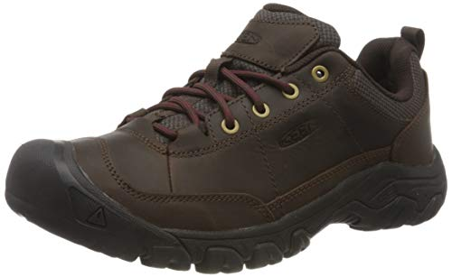KEEN unisex adult Targhee 3 Oxford Casual Hiking Shoe, Dark Earth/Mulch, 10.5 US