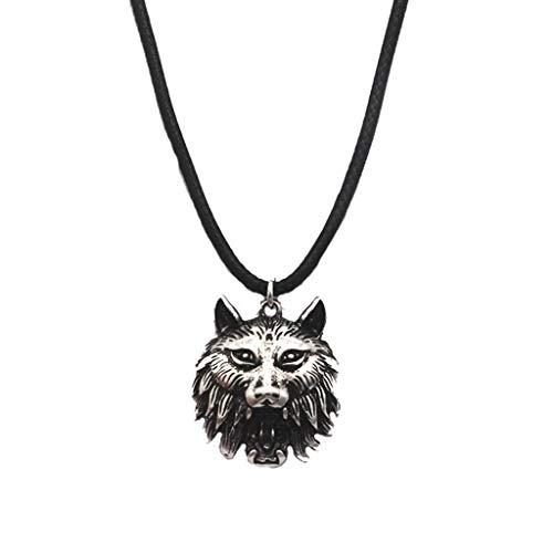 RG-FA Pendientes góticos vintage de hombre lobo con colmillos de vampiro, joyería asimétrica -