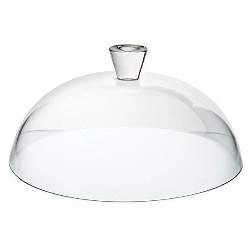 Dôme de gâteau de verre d'utopie pâtisserie avec poignée, transparent, 32cm