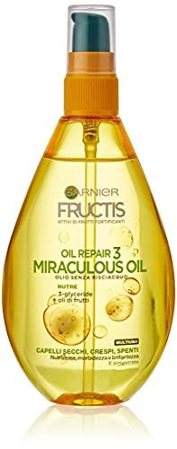 Garnier Fructis Oil Repair 3 Miraculous, Olio senza Risciacquo per Capelli Secchi, 150ml