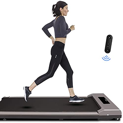 Under Desk Treadmill, Walking Machine Portable Space Saving Fitness Motorized Electric Treadmill for Home Office Workout (Gray)