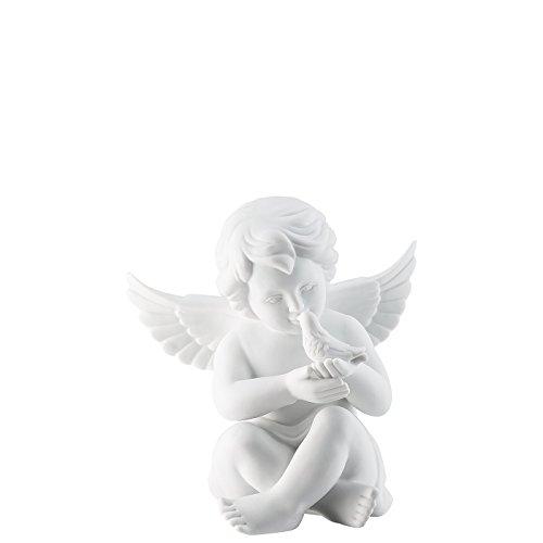 Rosenthal - Engel mit Taube - groß - Weiss - matt - Porzellan - Ø 14 cm