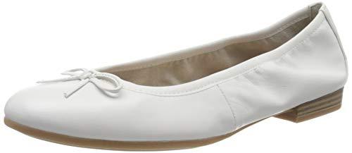 Tamaris Damen 1-1-22116-26 Geschlossene Ballerinas, Ballerinas, Weiß, 35 EU