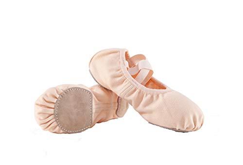 Lily's Locker - Zapatillas de ballet, suela de piel dividida, lona elástica, zapatillas de ballet para niñas, niños y adultos., color, talla 31 EU