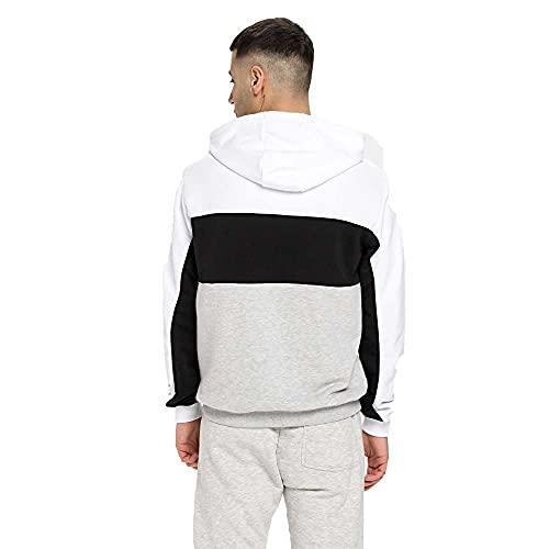 FILA Sudadera con capucha para hombre ANALU gris, blanco y negro L