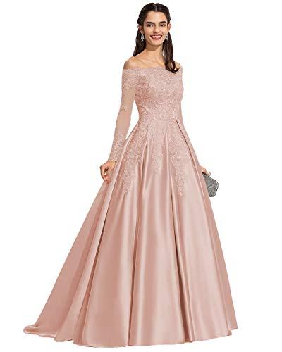 Top 10 Best Long Sleeve Satin Lace Off the Shoulder Wedding Dress Comparison