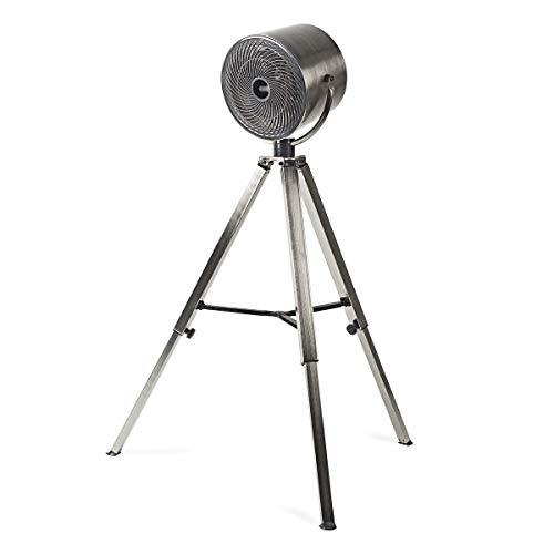 NEDIS Dreibein Ventilator Standventilator - 45 W - Durchmesser von 25 cm - 3 Geschwindigkeiten - Höhe und Position einstellbar - Stecker Euro/Typ C (CEE 7/16) - Gebürstetes Metall Metall 1.50 m