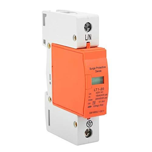 10kA-20kA 420vAC Dispositivo de detención Herramienta de protección Dispositivo de protección 1P Protector de sobretensión de la casa para voltaje de descarga para protección contra rayos