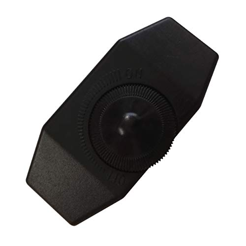 LED Dimmer (Schnur-Drehdimmer) 1-60 Watt stufenlos dimmbar / dimmen für dimmbare LED Leuchtmittel - Dimmschalter Schnur-Zwischendimmer Geräuschlos LED-Dimmer (schwarz)