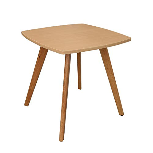 Solid Wood End Tables moderne minimalistische stijl vierkante Simple Coffee Table bijzettafel for Woonkamer Slaapkamer Balkon Home and Office (Color : Natural, Size : 22.44 * 22.44 * 24 in)