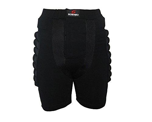 HYSENM Kinder/Erwachsene Schutzausrüstung Schutzkleidung Protektor Hüfte Skifahren Roller Skate Sport, Schwarz XS