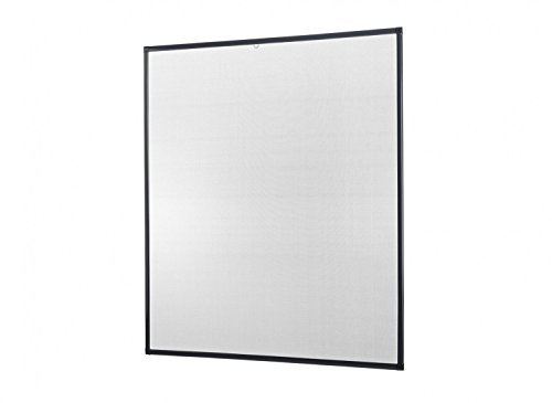 empasa Insektenschutz für Fenster Basic mit Alurahmen in Weiß, Braun oder Anthrazit und FILATEC® Gewebe in Schwarz, Bausatz zur Selbstmontage, Fliegengitter in verschiedenen Größen auswählbar