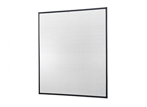 empasa Insektenschutz für Fenster Basic mit Alurahmen in Weiß, Braun oder Anthrazit und Filatec-Gewebe in Schwarz, Bausatz zur Selbstmontage, Fliegengitter in verschiedenen Größen auswählbar