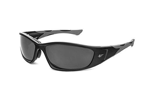 PEGASO 990.38.1305 990.02-Gafas Proteccion Gama Sun Modelo F1 Lente PC Solar Gris Antivaho, Negro, L