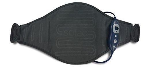 Solac CT8680 Helsinki - Almohadilla terapéutica Lumbar, 100 W, 6 niveles de temperatura, Tecnología Sensfort, autoapagado, conector extraíble, color azul oscuro