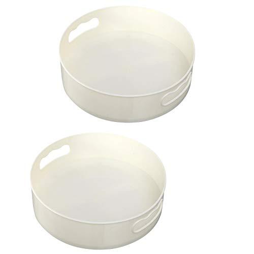 MagiDeal 2PCS Tocadiscos Bandeja de Almacenamiento de Cocina Soporte de Maquillaje Cosmético Multiusos
