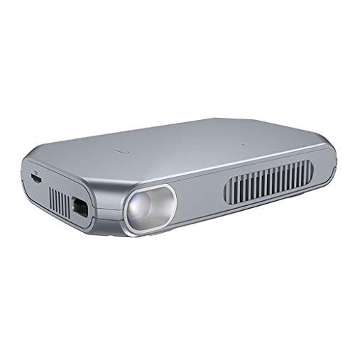 Projecteur portable projecteur maison wifi sans fil petit 1080p portable 3D home cinéma 4K Android projecteur intelligent Apple (Color : SILVER, Size : 17 * 10.5 * 2.8CM)