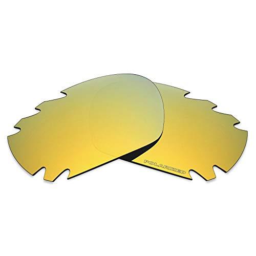 Mryok+ Polarisierte Ersatzgläser für Oakley Jawbone Vented - 24K Gold