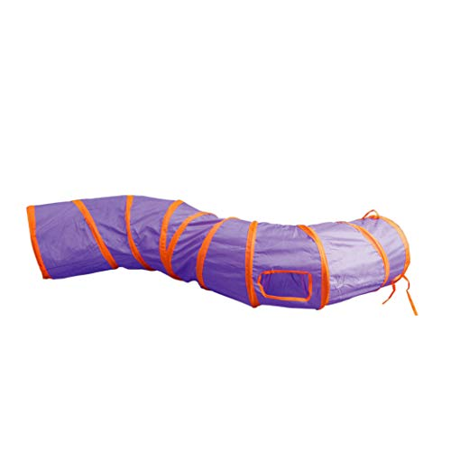 PetLike S Way Brinquedo de brinquedo de brinquedo de brinquedo oculto com bola dobrável para animais de estimação (P-Way, roxo)