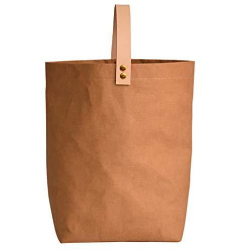 Cabilock Sac à Vin en Papier Kraft avec Poignée Sac d'emballage Cadeau de Cuisson Porte-Sac à Vin Réutilisable pour Bouteilles de Whisky de Bière de Vin