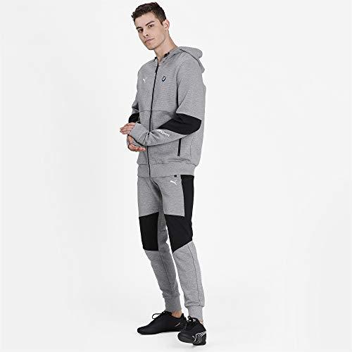 PUMA Formula 1 BMW Motorsport - Chaqueta con capucha para hombre, color gris jaspeado medio, M
